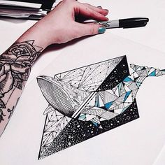 Baleia geométrica.