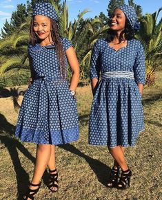 Chic lock shweshwe dresses 2020 for women, Shweshwe is one beautiful bolt you can bedrock in every a African Print Dresses, African Fashion Dresses, African Attire, African Dress, African Prints, Sepedi Traditional Dresses, South African Traditional Dresses, Shweshwe Dresses, Ankara Dress