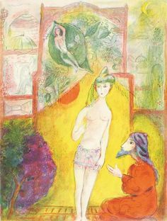 Then the boy was displayed to the Dervish… by Marc Chagall
