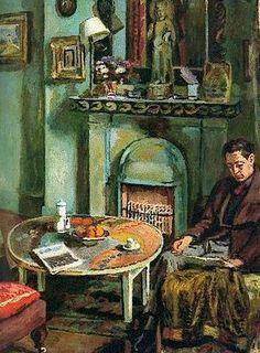 Vanessa Bell's portrait of her lover, fellow Bloomsbury painter Duncan Grant, reading.