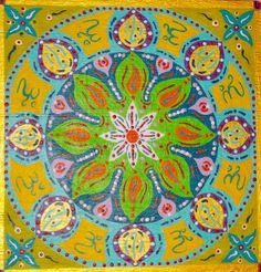 Mandala I. Acrílico sobre tabla  19x19cm  25€