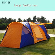 8 10persons luxury waterproof large family tent with 3rooms u0026 1hall/large party c&ing tent & Pod Tent Social Camping 12 Man Extra Large Family Tent | Family ...