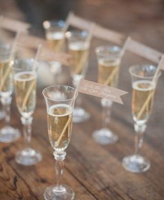 effing love this idea!  Why go more complicated, after the event no one needs to keep their place card...place cards. toast to the newlyweds