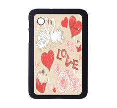 Protective Samsung Galaxy 2 (7.0) Case Love Pattern. $21.00, via Etsy.