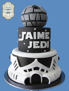Star wars cake but without the millennium falcon on top instead sparkler topping