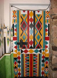 Ushaiger Yellow Tribal Door By Blue Abaya Photography Art