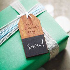 personalised 'christmas wish' wooden tag decoration by clara and macy   notonthehighstreet.com