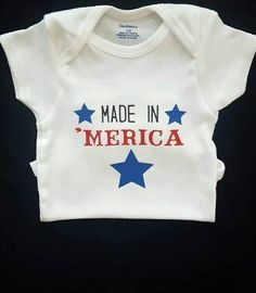 84b52621f first fourth of july onesie - Google Search Gerber Onesies, Baby Sleepers,  Stylish Baby