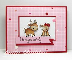 Just had to use this sweet #lawnfawn set for a Valentine card #clearstamps…
