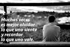 EL VALOR DE UNO MISMO... (((Sesiones y Cursos Online www.ciaramolina.com #psicologia #emociones #salud)))