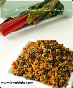 Cheera Mutta Thoran / Red swiss chard - egg stir fry - Indian Recipes ...