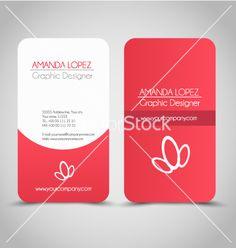 Business card design set template for company vector  by MilanaAdams on VectorStock®