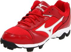 c9d968147ebe1 Mizuno 9-Spike Franchise 6 Low - 320401 Baseball Shoes, Baseball Cleats, Red