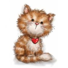 Wild Rose Studio CAT WITH HEART Clear Stamp Set CL505