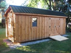 Saltbox Shed (Shown in 8x20 with Metal Roof)