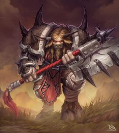 Tauren Warrior by RogierB.deviantart.com on @DeviantArt