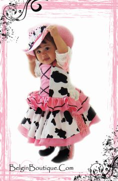 Pageant OOC Pink Baby Western Rodeo Cow Girl by BelginBoutique, $199.99 #‎ChickfilAMom‬