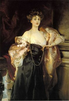 "A portrait of: ""Lady Helen Vincent, Viscountess d'Abernon"" - oil on canvas, c.1904.  By: John Singer Sargent, (1856-1925), an American Gilded Age portrait artist. ~ {cwlyons} ~ (Original image/holding: The Birmingham Museum of Art)"