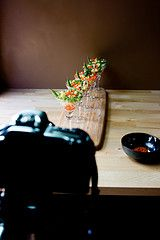 Tutorial for Food Photos.   I don't take pics of food, but this is a great tutorial for macro shots.