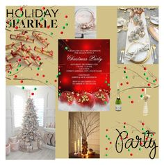 """""""Holiday party"""" by mscrispkia ❤ liked on Polyvore featuring interior, interiors, interior design, home, home decor, interior decorating, St. Nicholas Square, Pier 1 Imports, Kim Seybert and HolidayParty"""