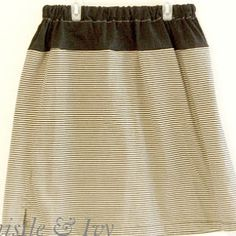 Simple Tee to Skirt Refashion | AllFreeSewing.com