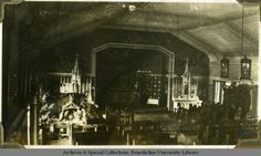 'High altar Christmas' at St. Procopius College (now Benedictine University) | 1920
