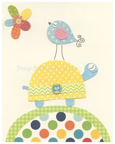 Nursery art prints Baby Room decor Nursery Art by DesignByMaya Patch Quilt, Applique Quilts, Quilt Blocks, Baby Set, Kids Prints, Art Prints, Quilting, Baby Room Decor, Fabric Art