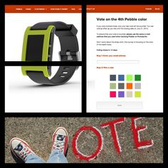 Kickstarter Update #16: The Official Voter's Choice ballot live! We selected 12 candidates from #ColorMyPebble. [cc Theresa Thompson]