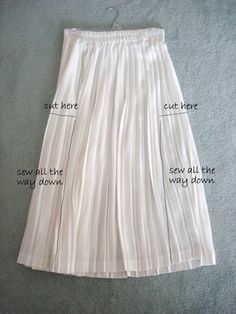 Life is Beautiful: DIY-pleated dress - Refashioning thrift store finds - Refashionista
