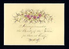 Heather Held Ink Flourishes: The Garden