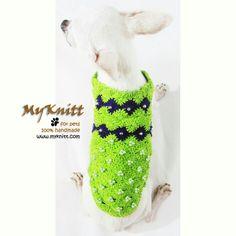 Fancy dog dresses handmade crocheted from Myknitt designer dog clothes. www.myknitt.com #chihuahua #myknitt #crochet #knit #handmade #diy #dogdress #designerdogclothes #cutedog