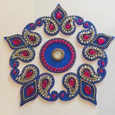 Diwali Rangoli/Floor Art Set of 6 by SukritiCrafts on Etsy
