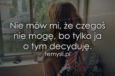 TeMysli.pl - Inspirujące myśli, cytaty, demotywatory, teksty, ekartki, sentencje Inspirational Thoughts, Sentences, Texts, Sad, Motivation, Words, Humor, Prom Hair, Women's Fashion