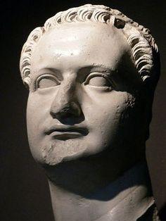 Head of the Roman Emperor Domitian Roman Marble 1st century CE