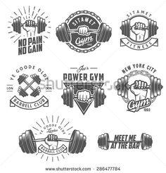 Retro Gym | Logo Templates | Creative, Logo design and ...