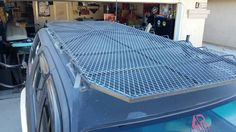 Chain link gate frame, with conduit cross members. Top Tents, Roof Top Tent, Toyota Tundra Off Road, Truck Roof Rack, Pickup Camping, 2002 Chevy Silverado, Jeep Wk, Willys Wagon, Cargo Rack