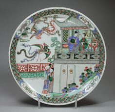 Chinese famille verte dish, Kangxi (1662-1722) : The British Antique Dealers' Association