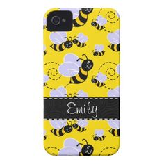 Yellow & Black Bumble Bee Case-Mate iPhone 4 Case http://www.zazzle.com/yellow_black_bumble_bee_case_mate_iphone_4_case-179002264389617009?rf=238675983783752015