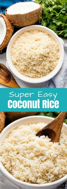 Coconut Rice is easy to make and the perfect side dish for so many different styles of meals. It has a mild coconut flavor, but its still delicious!