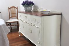 Lilyfield Life: French Provincial Sideboard in Annie Sloan Old White