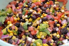 Southwestern Corn & Black Bean Salad ~ This turned out really good! The only thing I changed was not adding the avocado (my husband doesn't like them) & it was still very flavourful. This is a fantastic addition as a side dish or salsa/relish with other Mexican dishes.