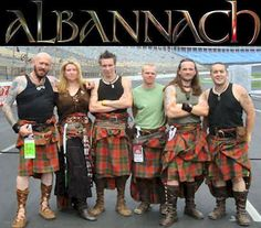 "Albannach, Gaelic for ""Scottish"" or ""Scotsman"", is a Scottish Celtic/Tribal drum and pipe band. Their traditional music is heavily percussive, driven by bass drums, bodhráns, and a single bagpipe. Glasgow, Scotland."