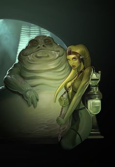 Star Wars - Oola and Jabba by darthdifa.deviantart.com