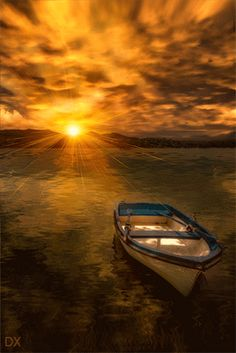boat in the sunrise pieces) Beautiful Gif, Beautiful Sunrise, Beautiful World, Beautiful Pictures, Image Nature, Nature Gif, Amazing Gifs, Amazing Nature, Gif Bonito