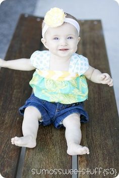Ruched Bubble Top Tutorial.  Summer is so sweet and so is her tutorial!