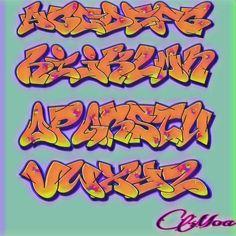 Graffiti Lettering Fonts, Graffiti Writing, Lettering Design, Typography, Grafitti Letters, Graffiti Alphabet, Banksy Stencil, Mike Giant, Alphabet Symbols