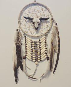 Cowskull dreamcatcher, native inspired