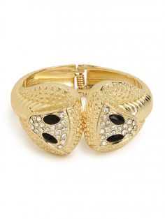 our double gold cobra bangle!