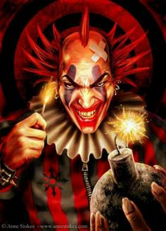 Anne Stokes. Evil Clown