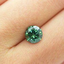 Vivid Green Color 2.03 Carat VS2 Round Shape Natural Enhanced Loose Real Diamond
